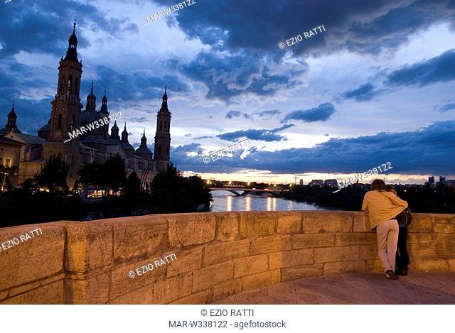 europe, spain, zaragoza, basilica of our lady of the pillar