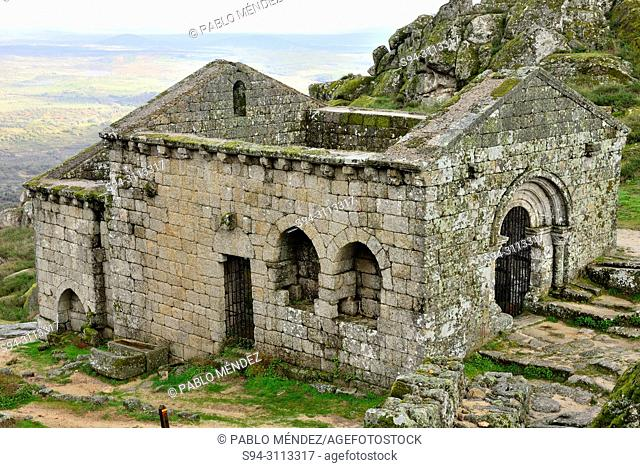 Ruins of the church of Sao Miguel, Monsanto, Portugal