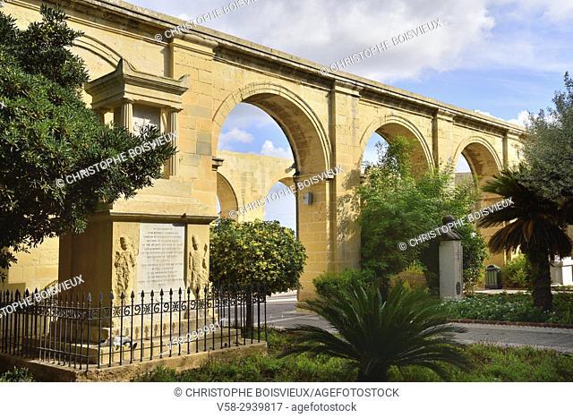 Malta, World Heritage Site, Valletta, Upper Barrakka gardens