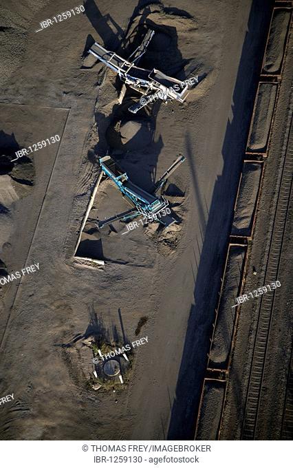 Pumice mining, Koblenz, Rhineland-Palatinate, Germany, Europe