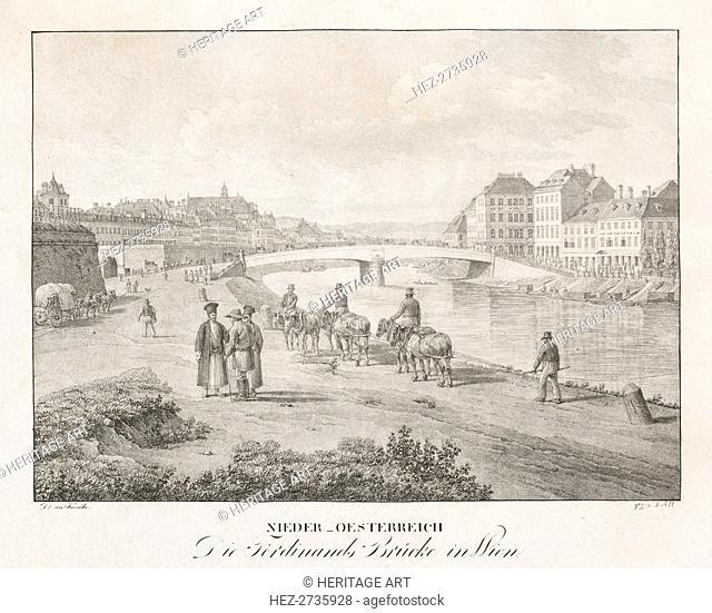 Nieder-oesterreich, Die Ferdinand Brucke in Wien. Creator: Jakob Alt (Austrian, 1789-1872)