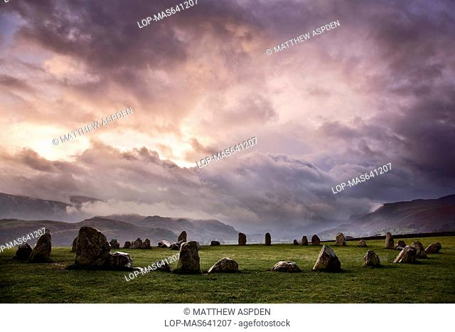 Castlerigg Stone Circle in the Lake District National Park