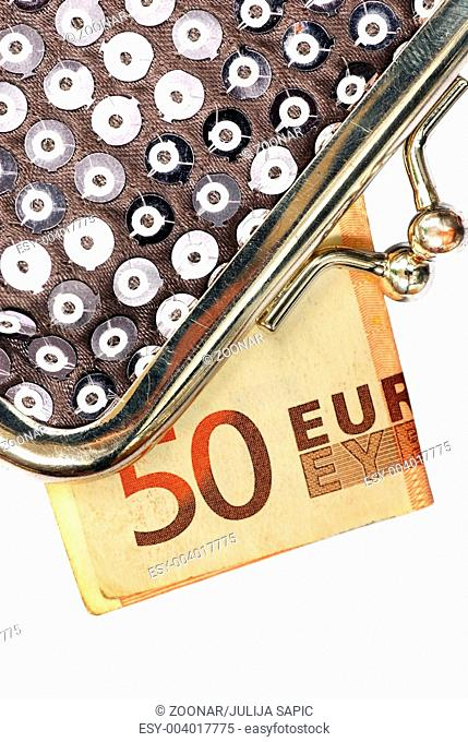 Silver Purse with fifty euros