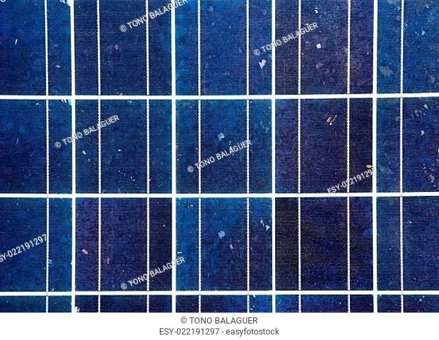 blue solar energy plate detail