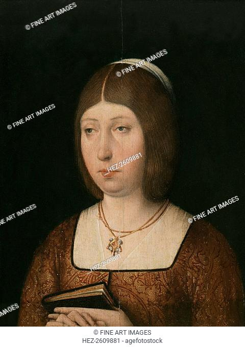 Queen Isabella I of Castile, c. 1490. Artist: Anonymous