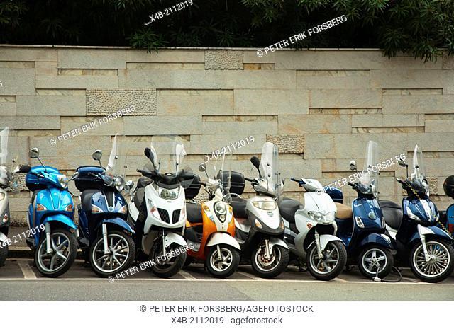 Scooters, Genoa, Liguria region, Italy, Europe
