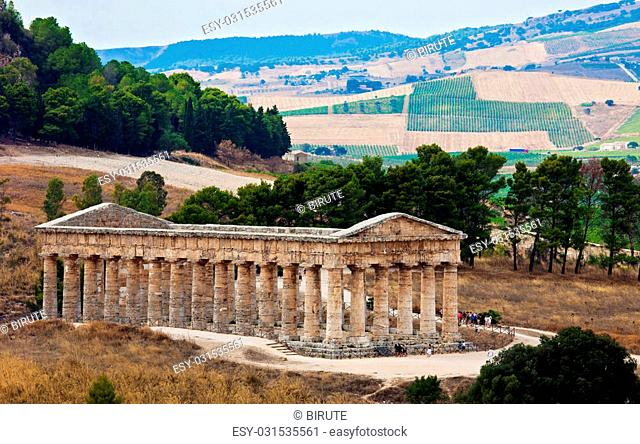 Doric temple of Segesta in Sicily, Italy