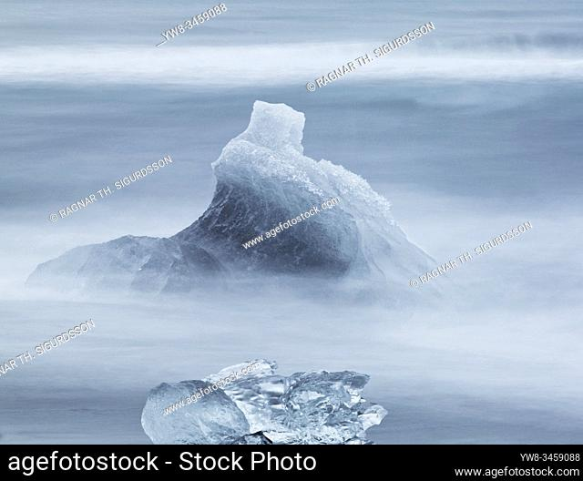 Icebergs at the Diamond Beach, Breidamerkursandur, Iceland