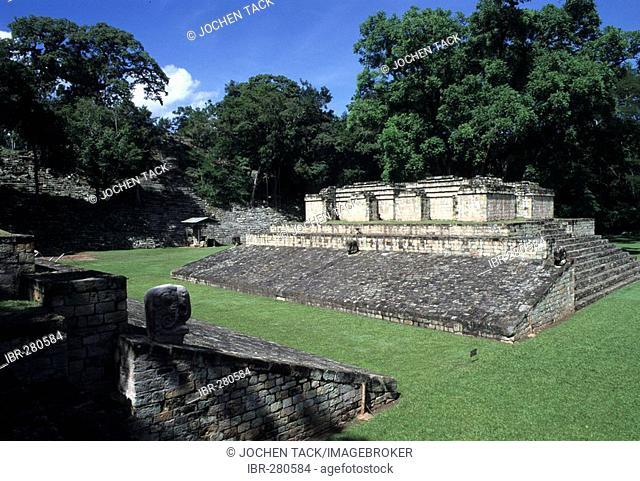 Ballcourt, Maya ruins of Copan, Honduras