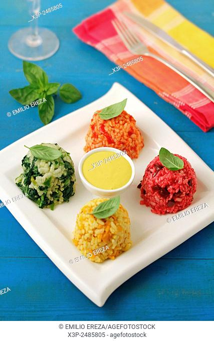 Rice in four colours