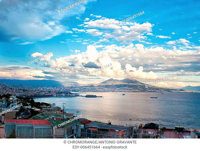 Best view of the gulf of Naples daylight