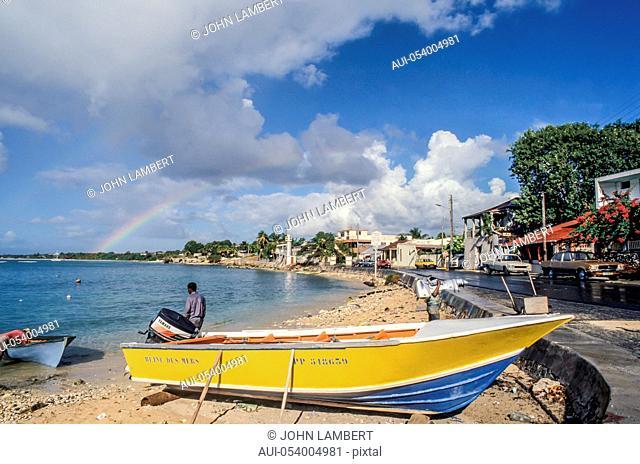 guedaloupe island, fisherman village