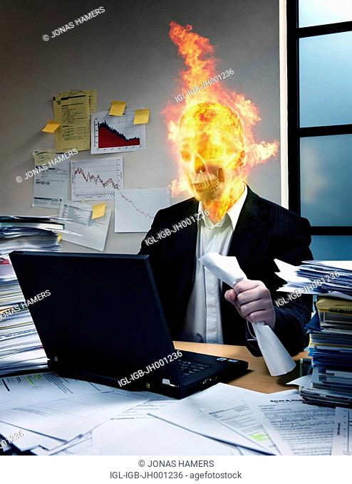 Employee suffering from burnout