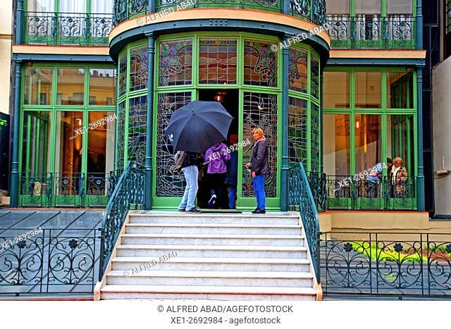 Casa Lleo i Morera, modernist art, architect Lluis Domenech i Montaner, Barcelona, Catalonia, Spain