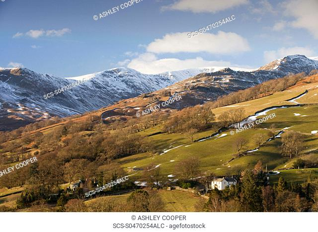 Fairfield mountain in the Lake district National Park, UK in winter