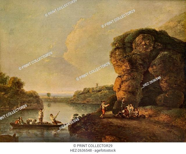 'Landscape, with River and Boats', c1758, (1938). Artist: Richard Wilson