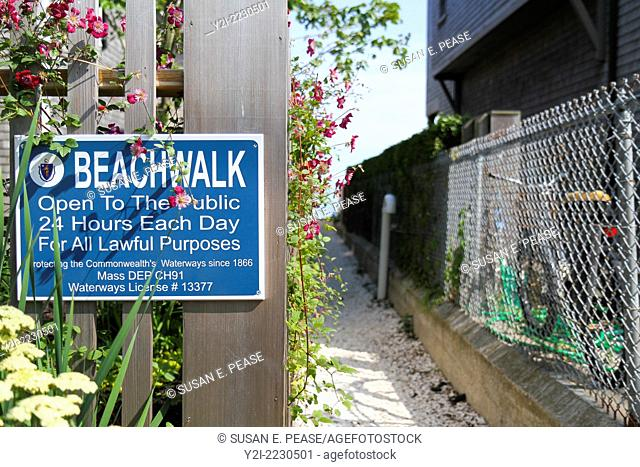 Public walkway to the beach in Provincetown, Massachusetts, USA