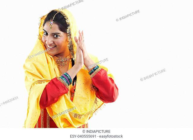 Sikh woman dancing