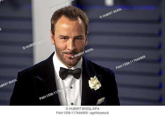 Tom Ford attends the Vanity Fair Oscar Party at Wallis Annenberg Center for the Performing Arts in Beverly Hills, Los Angeles, USA, on 24 February 2019