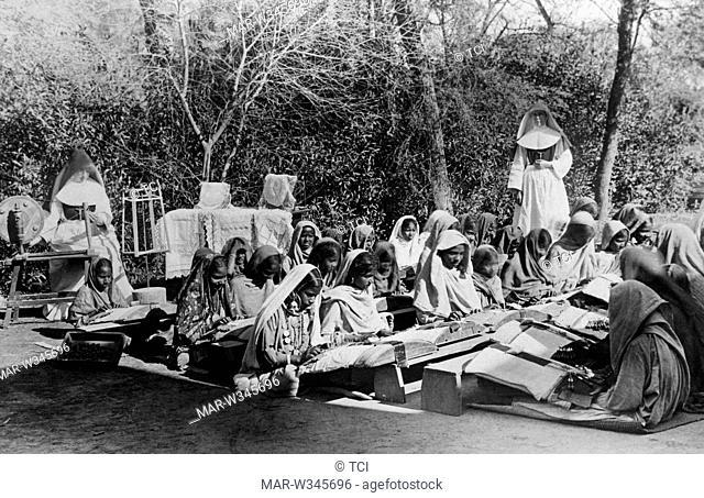 asia, india, lahore, children in school, 1930-40
