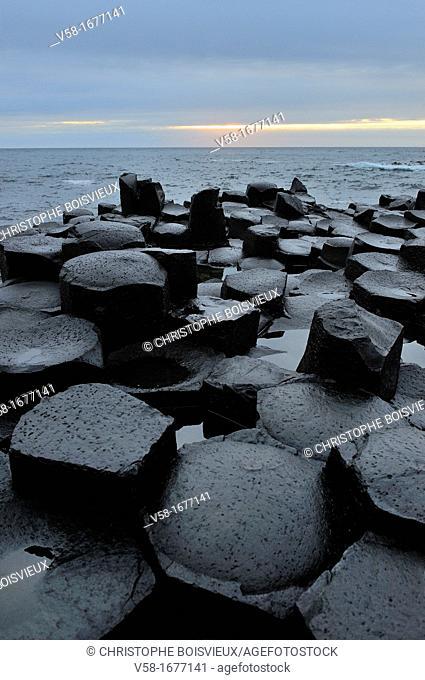 United Kingdom, Northern Ireland, Antrim coast, Giant's Causeway  Legend has it that the Irish giant Fionn mac Cumhaill Finn McCool built the causeway to walk...
