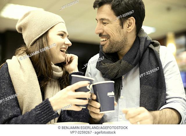 couple, coffee shop, in Munich, Germany