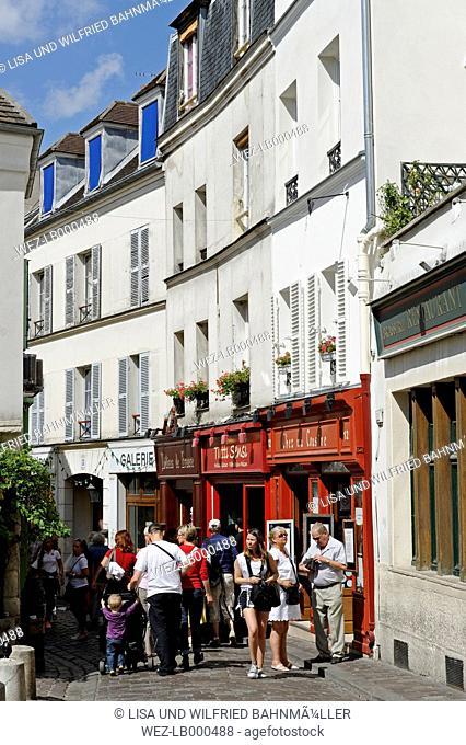 France, Paris, 18th arrondissement, Montmartre, view to Rue Norvins