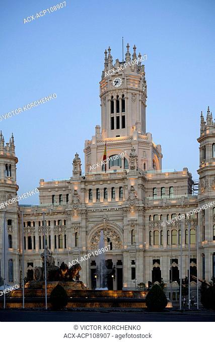 Madrid City Hall at Plaza de Cibeles