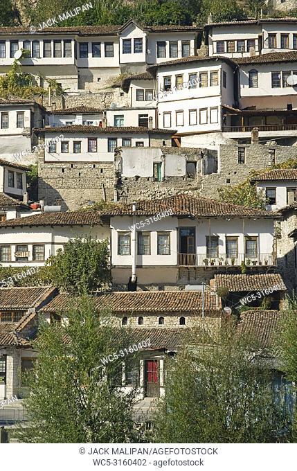 berat historic old town in albania