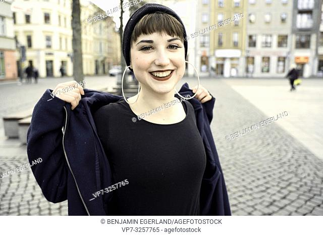 eased woman, in city Cottbus, Brandenburg, Germany