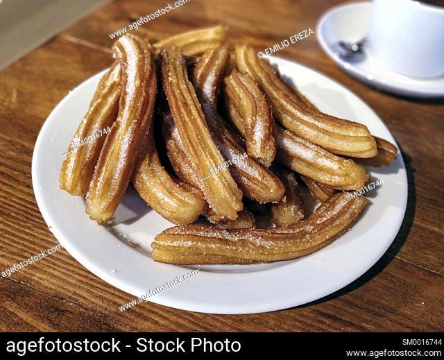 Churros. Traditional Spanish breakfast