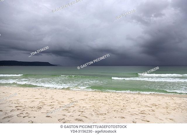 Storm in the sea, Sok San Beach, Koh Rong Island, Sihanoukville province, Kingdon of Cambodia.