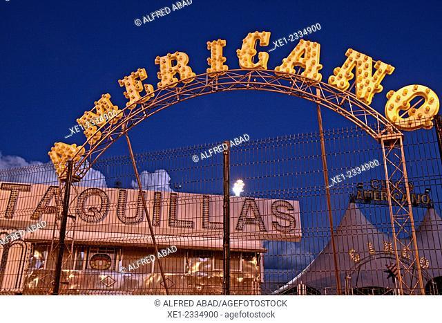 Tagline, American Circus, Barcelona, Catalonia, Spain