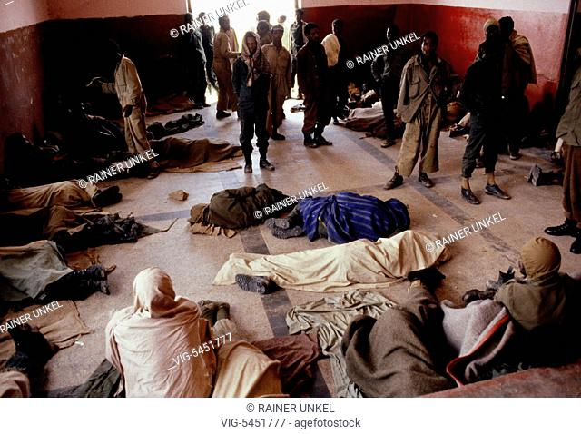 ETH , ETHIOPIA : Imprisoned soldiers of the Ethiopian army in Tigray province , March 1990 - Mekelle, Tigray, Ethiopia, 28/03/1990