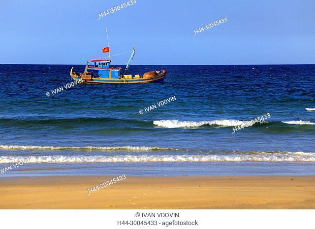 South China Sea beach near Tam Ky, Vietnam