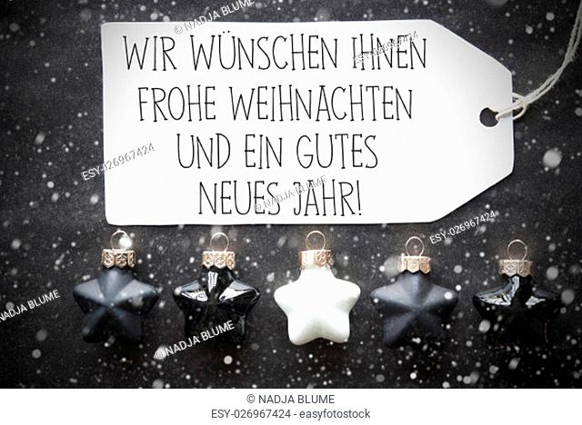 Label With German Text Wir Wuenschen Frohe Weihnachten Und Ein Gutes Neues Jahr Means Merry Christmas And Happy New Year