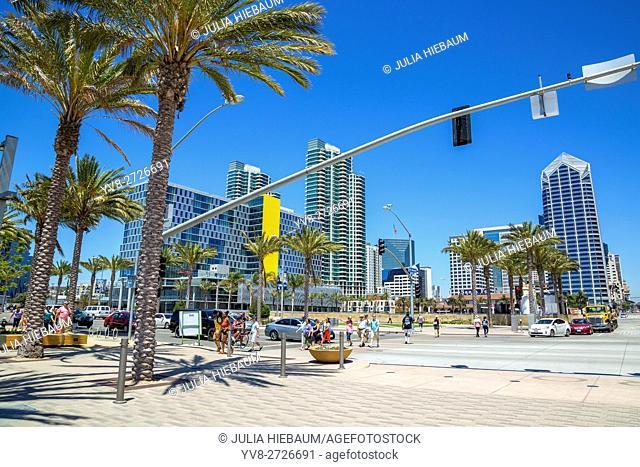 San Diego's downtown Bayside area, California