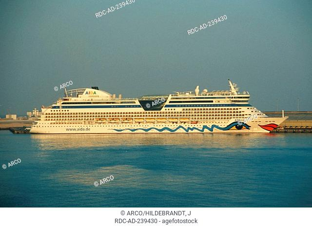 Cruise Ship AIDA diva, harbour, Abu Dhabi, United Arab Emirates