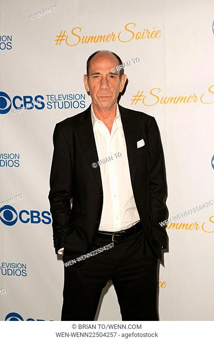 Celebrities attend the 3rd Annual CBS Television Studios Rooftop Summer Soiree at The London Hotel. Featuring: Miguel Ferrer Where: Los Angeles, California