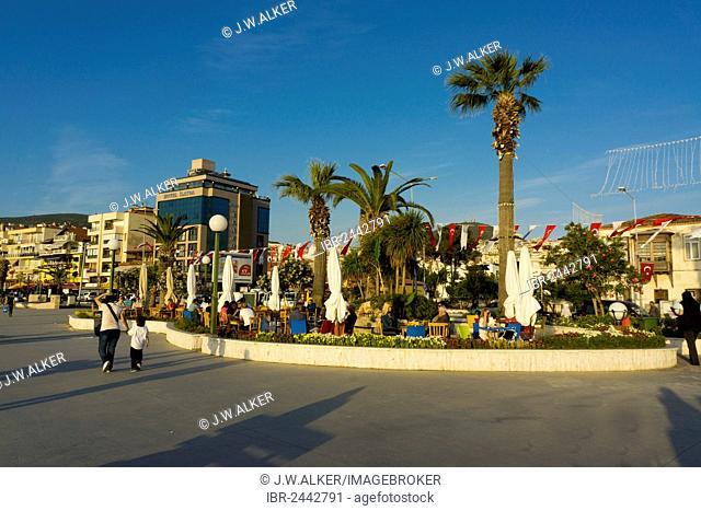 Harbour promenade of Kusadasi, Aydin Province, Turkey, Asia