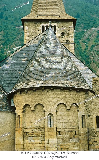 Church. Vieille Aure. Saint Lary. Midi-Pyrenees. France