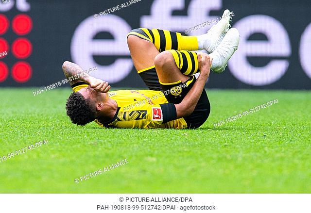 17 August 2019, North Rhine-Westphalia, Dortmund: Soccer: Bundesliga, Borussia Dortmund - FC Augsburg 5-1, 1st matchday at Signal Iduna Park