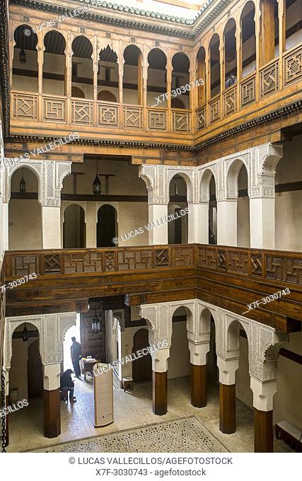 Nejjarine art and wood crafts Museum, Funduq or caravanserai. Fez. Morocco