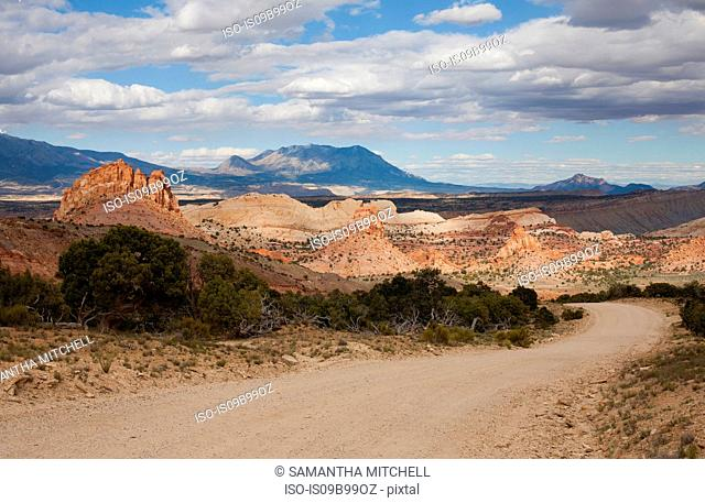 Landscape with Burr Trail Road in Grand-Escalante National Monument, Utah, USA