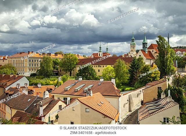 Autumn afternoon at Hradcany in Prague, Czechia