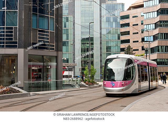Tram system in Birmingham which runs from Birmingham to Wolverhampton