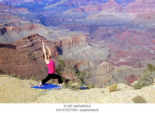 Yoga Stretching at Grand Canyon