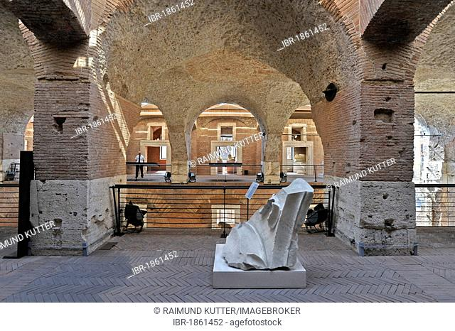 Great Hall of Trajan's Market, including the Museum of the Imperial Forum, Museo dei Fori Imperiali, Rome, Lazio, Italy, Europe