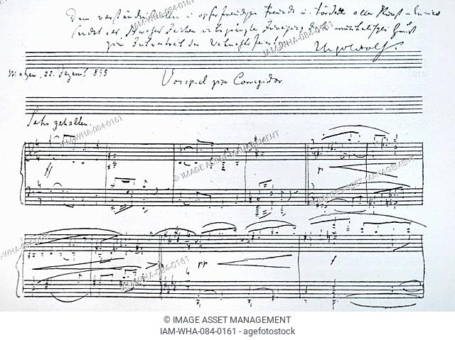Der Corregidor, a comic opera by Hugo Wolf (1860-1903) an Austrian composer of Slovene origin. Dated 19th Century