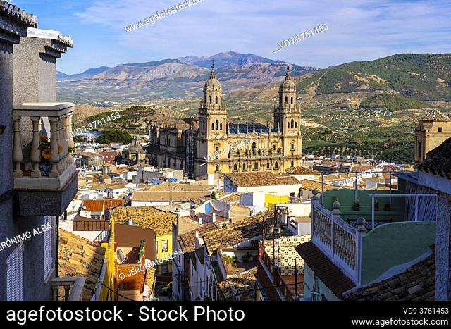 Jaen cathedral. Holy Church of the Assumption of the Virgin, Jaen city. Andalusia, Southern Spain Europe